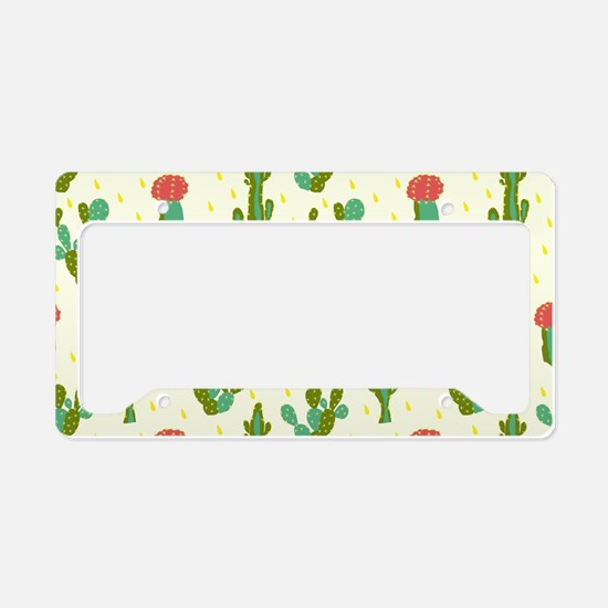 Cactus Pattern License Plate Holder