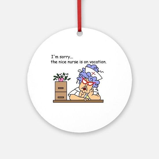 Nurse on Vacation Ornament (Round)