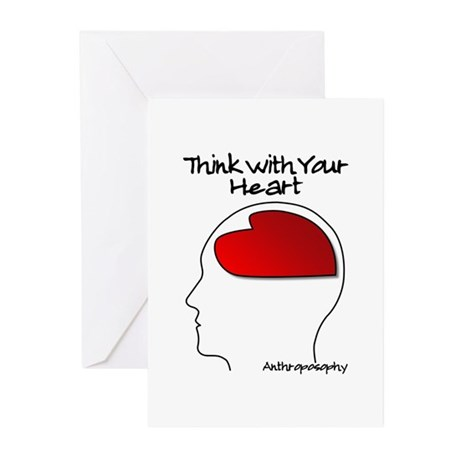 Think With Your Heart Greeting Cards (Pk of 10)