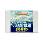 Vintage Squid Label 1 Rectangle Magnet