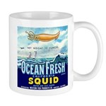 Vintage Squid Label 1 Mug