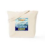 Vintage Squid Label 1 Tote Bag