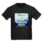 Vintage Squid Label 1 Kids Dark T-Shirt