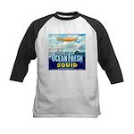Vintage Squid Label 1 Kids Baseball Jersey
