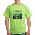 Vintage Squid Label 1 Green T-Shirt