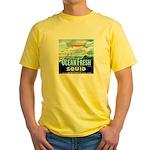 Vintage Squid Label 1 Yellow T-Shirt