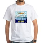 Vintage Squid Label 1 White T-Shirt
