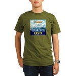 Vintage Squid Label 1 Organic Men's T-Shirt (dark)