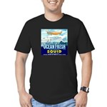 Vintage Squid Label 1 Men's Fitted T-Shirt (dark)