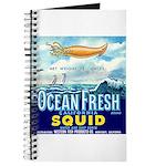 Vintage Squid Label 1 Journal