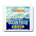 Vintage Squid Label 1 Mousepad