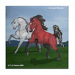 Arabian & Andalusian Horses Tile Coaster