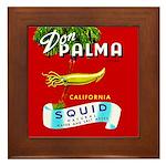 Squid Label 2 Framed Tile