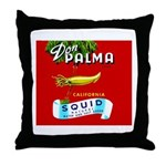 Squid Label 2 Throw Pillow