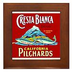Crest Blanca Sardine Label Framed Tile