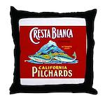 Crest Blanca Sardine Label Throw Pillow