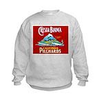 Crest Blanca Sardine Label Kids Sweatshirt
