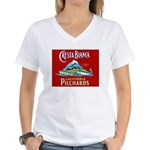 Crest Blanca Sardine Label Women's V-Neck T-Shirt