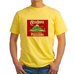 Crest Blanca Sardine Label Yellow T-Shirt