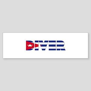 Diver: CUBA Bumper Sticker