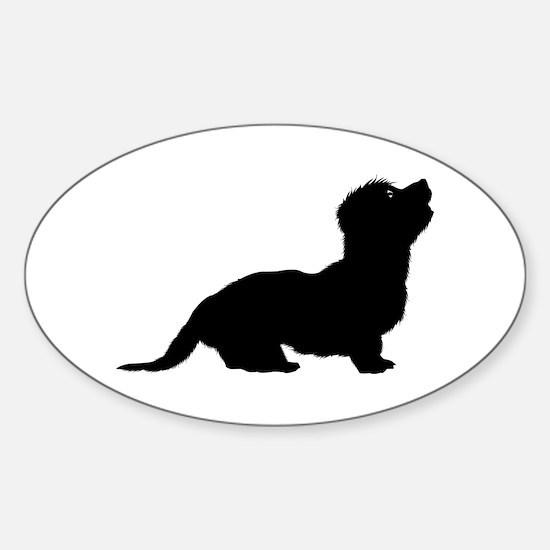 Dandie Dinmont Terrier Oval Decal