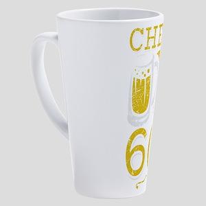 Cheers and Beers 60th Birthday Gif 17 oz Latte Mug