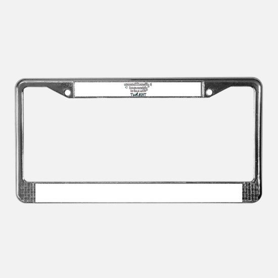 In Love with Twilight License Plate Frame