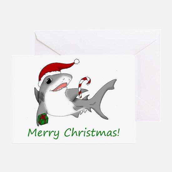 Christmas Shark Greeting Card