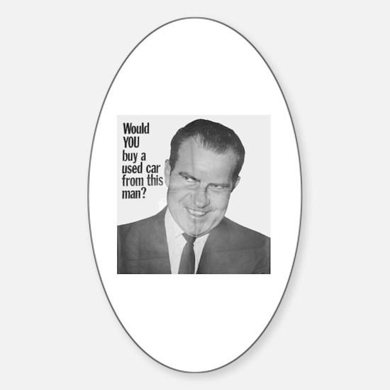 Nixon Used Car Oval Decal