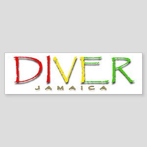 Diver Jamaica Sticker (Bumper)