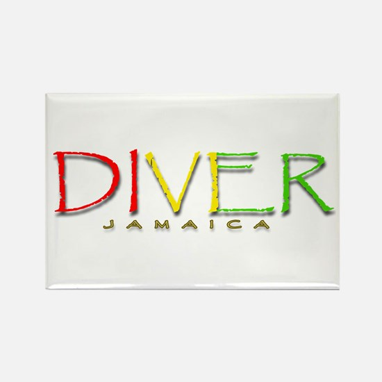 Diver Jamaica Rectangle Magnet