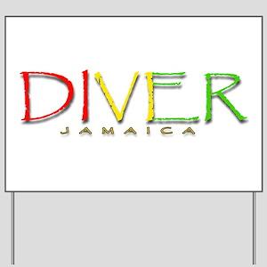 Diver Jamaica Yard Sign