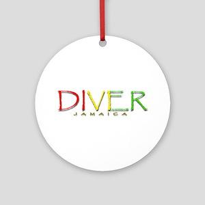 Diver Jamaica Ornament (Round)