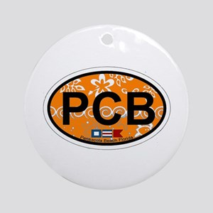 Pensacola Beach Oval Design Ornament (Round)