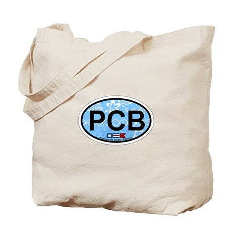 Pensacola Beach Oval Design Tote Bag