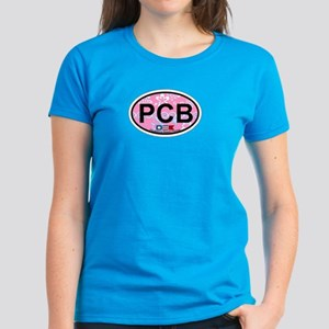 Pensacola Beach Oval Design Women's Dark T-Shirt