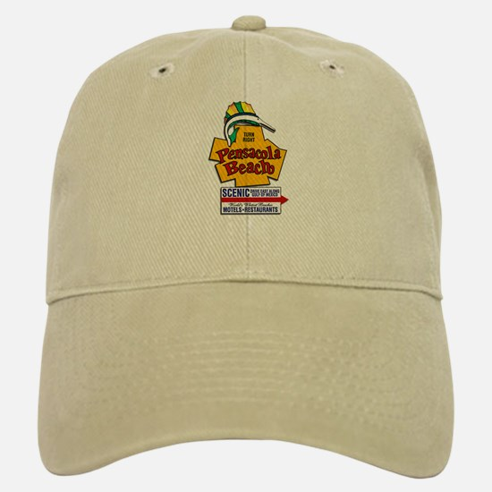 "Pensacola Beach ""Welcome Sign"" Design Baseball Baseball Cap"