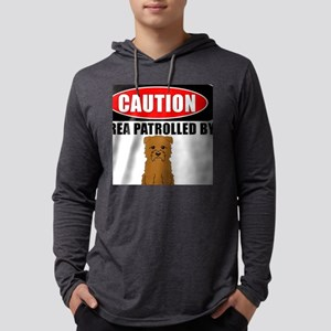 Caution Area Patrolled By Glen Long Sleeve T-Shirt