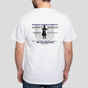 DESRON 15's Escort Service White T-Shirt