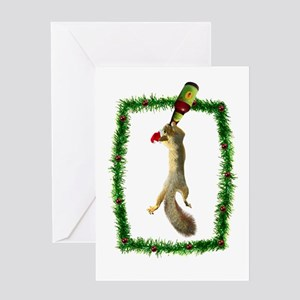 Holiday Squirrel with Beer Greeting Card