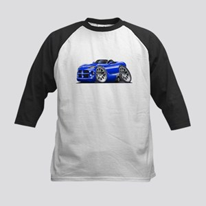 Viper Roadster Blue Car Kids Baseball Jersey