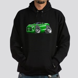 Viper Roadster Green Car Hoodie (dark)