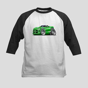 Viper Roadster Green Car Kids Baseball Jersey