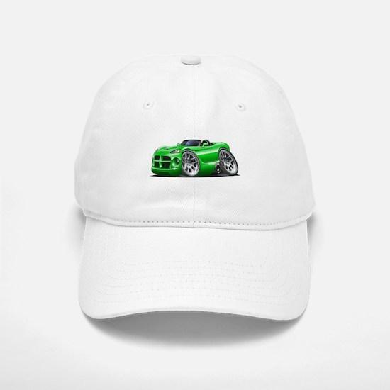 Viper Roadster Green Car Baseball Baseball Cap