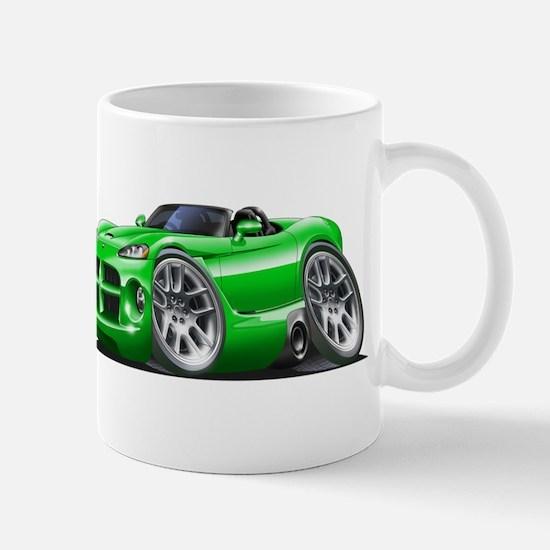 Viper Roadster Green Car Mug