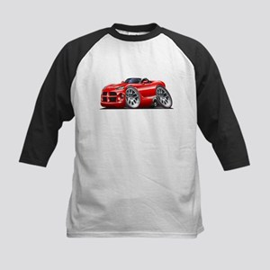 Viper Roadster Red Car Kids Baseball Jersey
