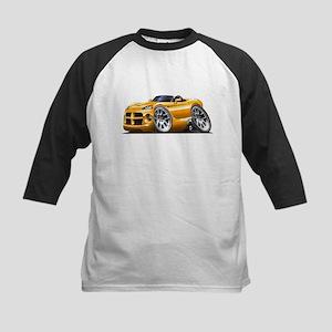 Viper Roadster Orange Car Kids Baseball Jersey