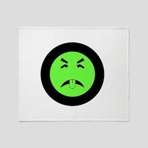 Mr. Yuk logo Throw Blanket