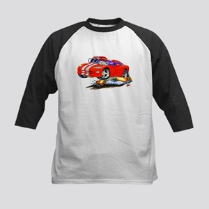 Viper Red/Grey Car Kids Baseball Jersey
