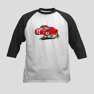 Viper Red/White Car Kids Baseball Jersey